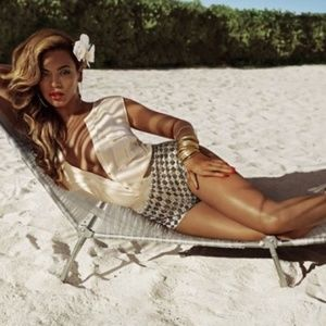 Beyonce's beaded shorts- Size 4